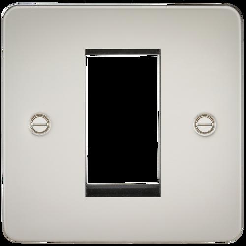 Flat Plate 1G Modular Faceplate - Pearl (DFL1FP1GPL)