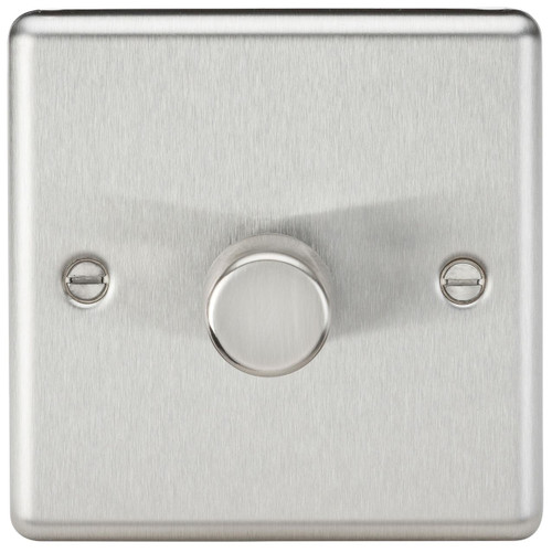 1G 2-Way 10-200W (5-150W LED) Dimmer Switch - Rounded Edge Brushed Chrome (DFL1CL2181BC)