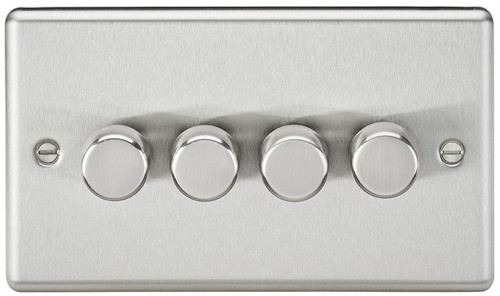 4G 2-Way 10-200W (5-150W LED) Dimmer Switch - Rounded Edge Brushed Chrome (DFL1CL2184BC)