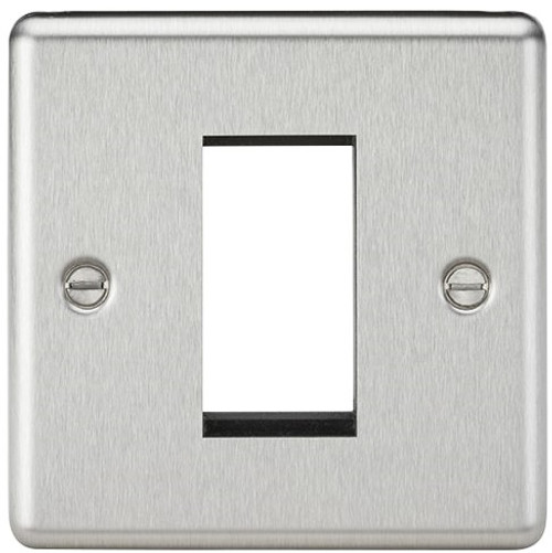 1G Modular Faceplate - Rounded Edge Brushed Chrome (DFL1CL1GBC)