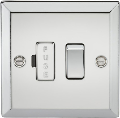 13A Switched Fused Spur Unit - Bevelled Edge Polished Chrome (DFL1CV63PC)