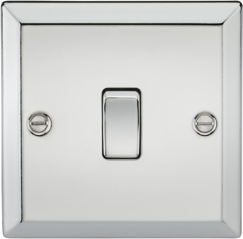20A 1G DP Switch - Bevelled Edge Polished Chrome (DFL1CV834PC)