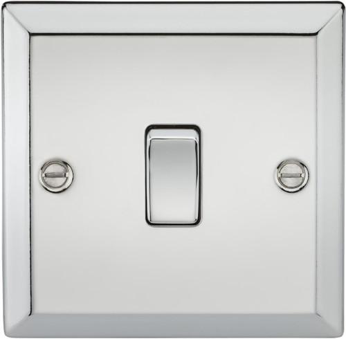 20A 1G DP Switch - Bevelled Edge Polished Chrome (DFL1CV834PC)