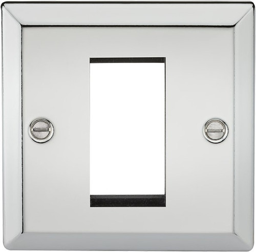 1G Modular Faceplate - Bevelled Edge Polished Chrome (DFL1CV1GPC)