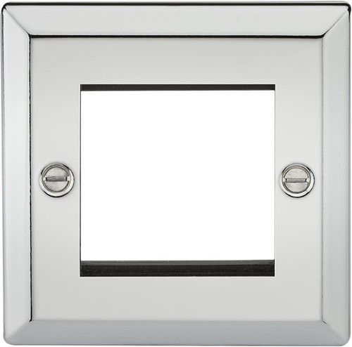 2G Modular Faceplate - Bevelled Edge Polished Chrome (DFL1CV2GPC)
