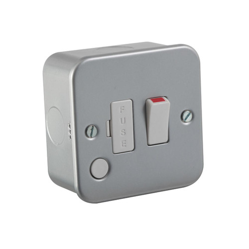 Metal Clad 13A Switched Fused Spur Unit with Flex Outlet (DFL1M6300F)