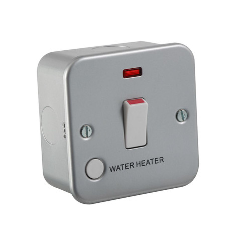 Metal Clad 20A 1G DP Switch with Neon and Flex Outlet Water Heater (DFL1M8341WH)
