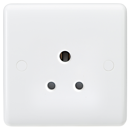 Curved edge 5A unswitched round pin socket (DFL1CU5U)