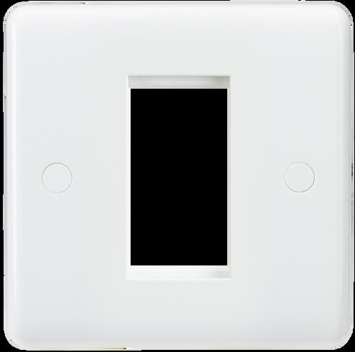 Curved edge 1G modular faceplate (DFL1CU1G)