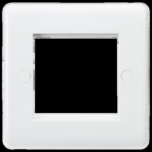 Curved edge 2G modular faceplate (DFL1CU2G)