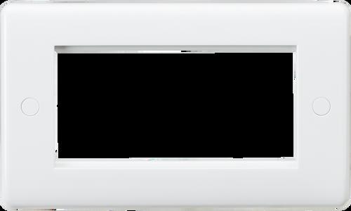 Curved edge 4G modular faceplate (DFL1CU4G)