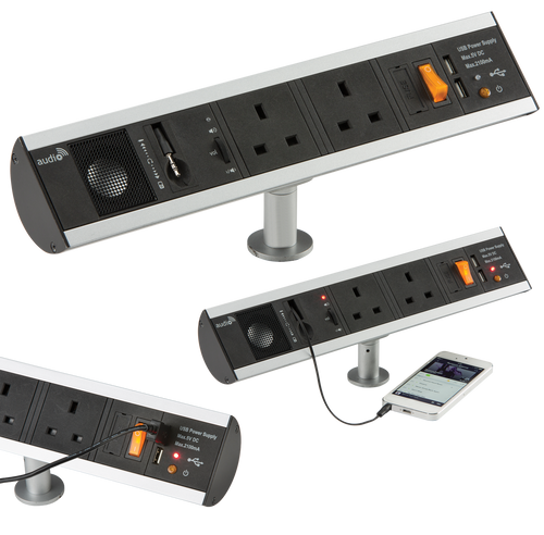 13A 2G Power Station with Built-in Speaker and USB Charger Ports (DFL1SK004)