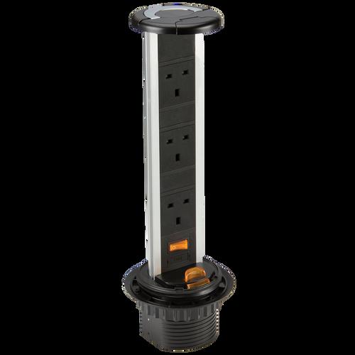 IP54 13A 3G Pop Up Socket (DFL1SK006)