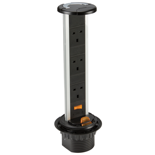 IP54 13A 3G Recess Mount Pop Up Socket (DFL1SK006)