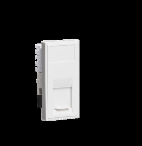 White Modular UTP CAT5E RJ45 Outlet (DFL1NETCAT5WH)