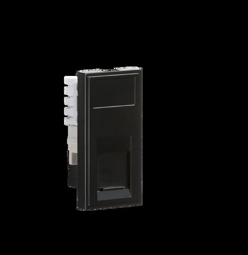 Black Modular UTP CAT5E RJ45 Outlet (DFL1NETCAT5BK)