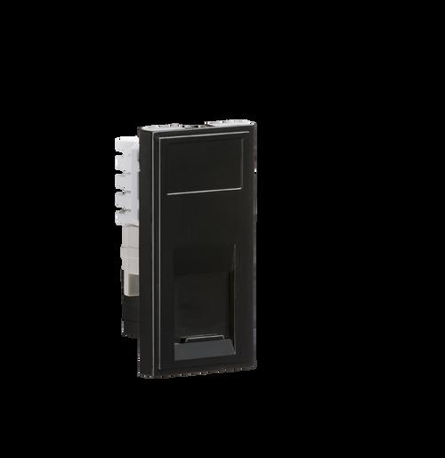 Black Modular UTP CAT6 RJ45 Outlet (DFL1NETCAT6BK)
