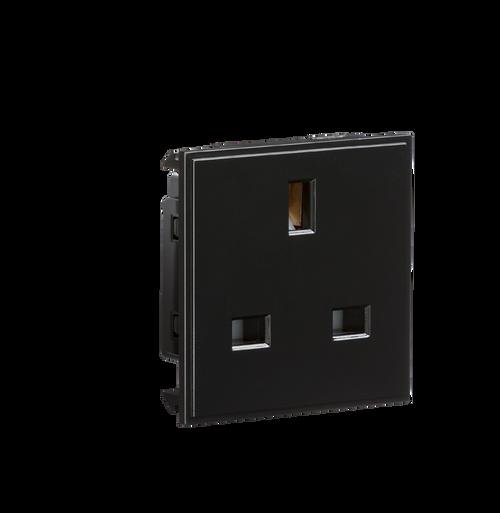 13A 1G Black Unswitched Modular Socket (DFL1NET13BK)