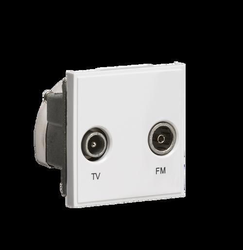 White Modular Diplexed TV /FM DAB Outlet (DFL1NETDITVWH)