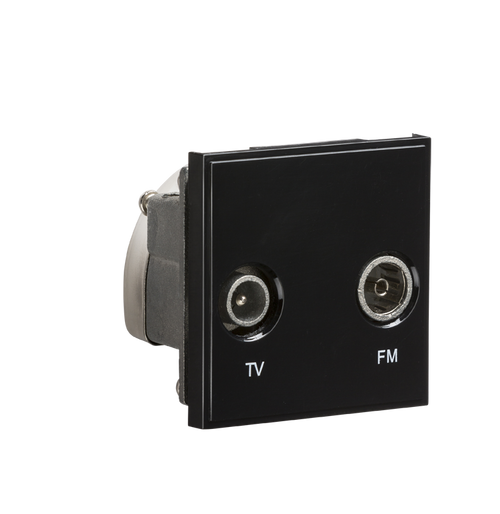 Black Modular Diplexed TV /FM DAB Outlet (DFL1NETDITVBK)