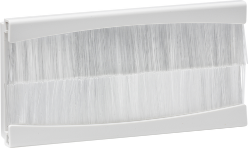 100mm x 50mm brush module - White (DFL1NETBR4GW)