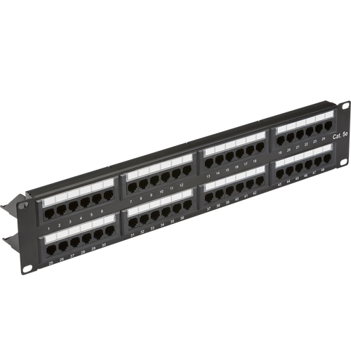 "19"" 2U 48-port UTP CAT5e patch panel (DFL1NET48C5E)"