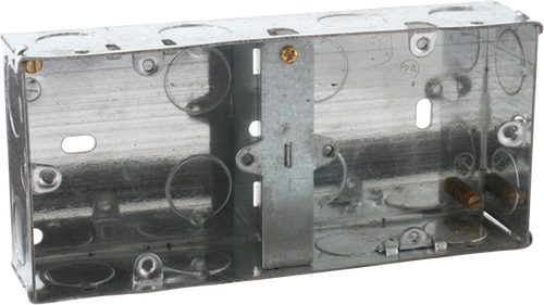2G 35mm Dual Galvanised Steel Box (DFL1SG235D)