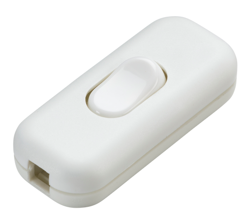 6A DP inline cord switch - white (DFL1ST6AWH)