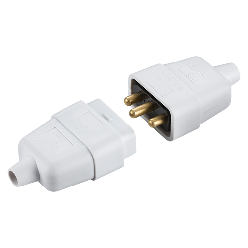 10A 3 PIN CABLE CONNECTOR WHITE (DFL1SN2121W)