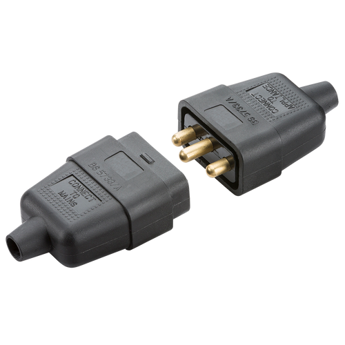 10A 3 PIN CABLE CONNECTOR BLACK (DFL1SN2121B)