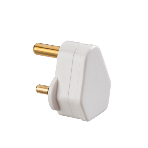 5A ROUND PIN PLUG TOP - WHITE (DFL1SN135A)