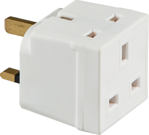 13A 2 WAY MAINS ADAPTOR (UNFUSED) (DFL11350)