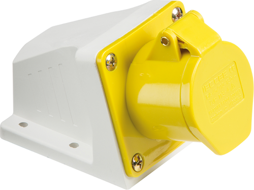 110V IP44 16A Angled Surface Mount Socket 2P+E (DFL1IN003)