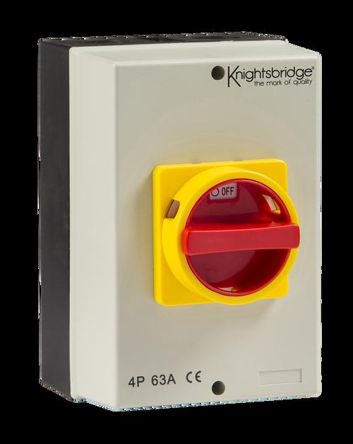 IP65 63A Rotary Isolator 4P AC (230V-415V) (DFL1IN0027)