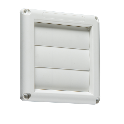 "100MM/4"" Gravity Shutter - White (DFL1EX007W)"