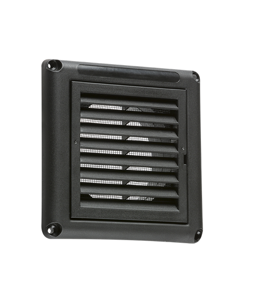 """100MM/4"""" Extractor Fan Grille with Fly Screen - Black (DFL1EX009B)"""