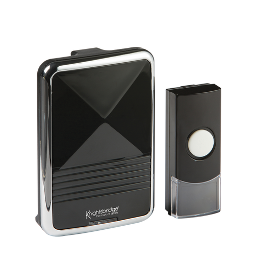 Black Wireless Door Chime (200m range) (DFL1DC001)