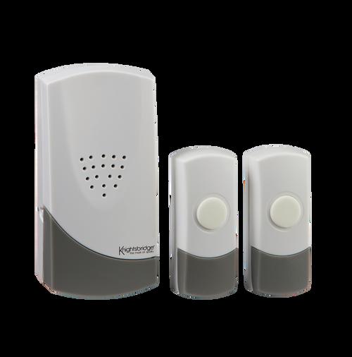 White Wireless Dual Entrance Door Chime Kit (100m range) (DFL1DC007)