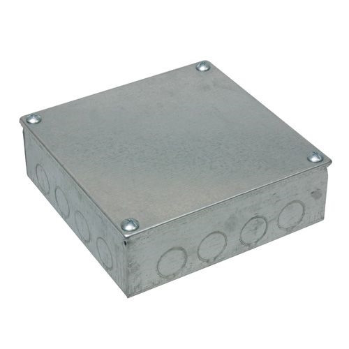 Adaptable Box 12x 12x 3 with Knockouts- Galvanised (DFL2AB12123G)