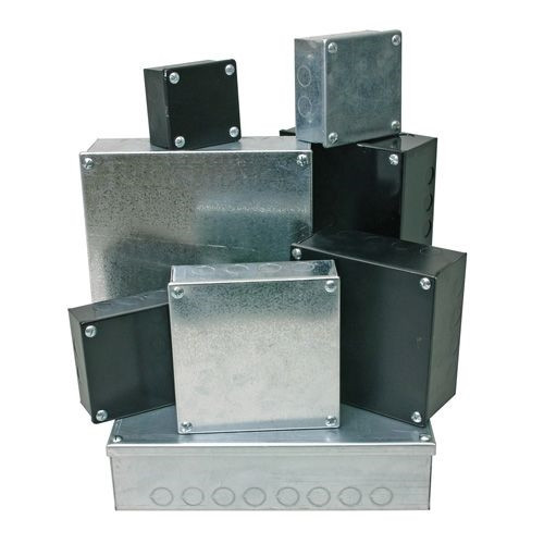 Adaptable Box 12x 12x 4 with Knockouts- Galvanised (DFL2AB12124G)