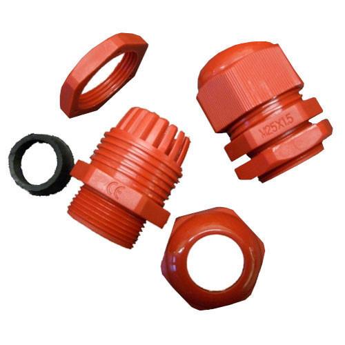 20mm Nylon Glands- Locknuts Kit 10 Pack, IP68 Red (DFL2NG20RKIT)