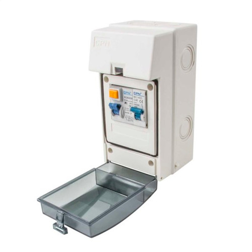3 Way Insulated Consumer Unit with 63A RCD and 40A Type C MCB (DFL3CU031)