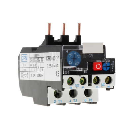 0.25-0.40A Overload Relay (DFL3CR0.40D)