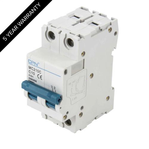 10A 2P 6kA Type C MC MCB (DFL3MC210C)