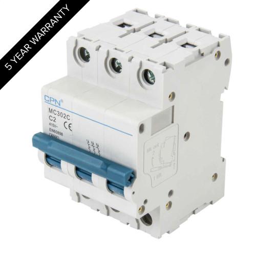 2A 3P 6kA Type C MC MCB (DFL3MC302C)