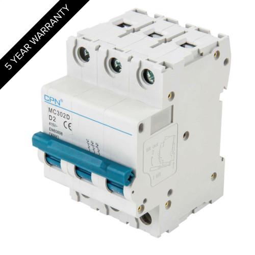 2A 3P 6kA Type D MC MCB (DFL3MC302D)
