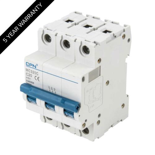 20A 3P 6kA Type C MC MCB (DFL3MC320C)