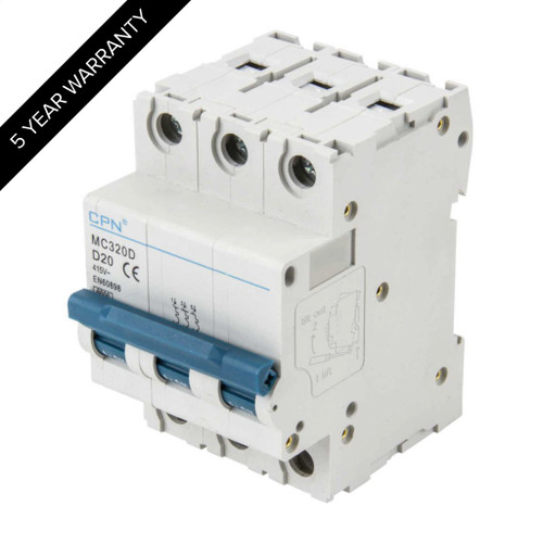 20A 3P 6kA Type D MC MCB (DFL3MC320D)