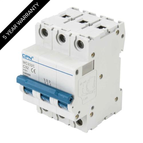 32A 3P 6kA Type C MC MCB (DFL3MC332C)