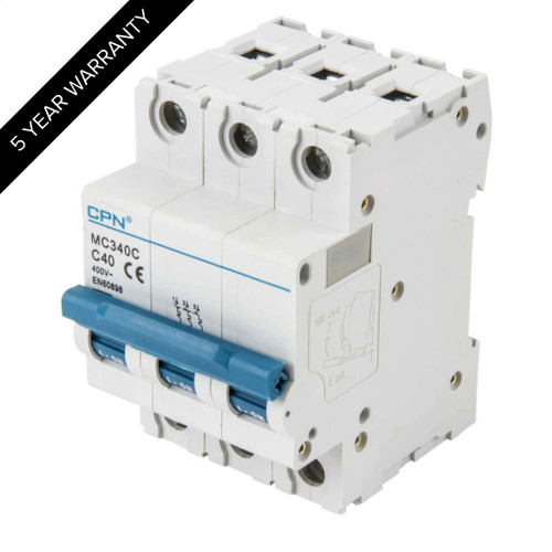 40A 3P 6kA Type C MC MCB (DFL3MC340C)